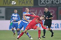 (L-R) *Erik Bakker* of PEC Zwolle, *Guus Til* of AZ Alkmaar