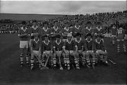 06/09/1970<br /> 09/06/1970<br /> 06 September 1970<br /> All Ireland Minor Hurling Final Cork v Galway at Croke Park, Dublin. The Cork team.
