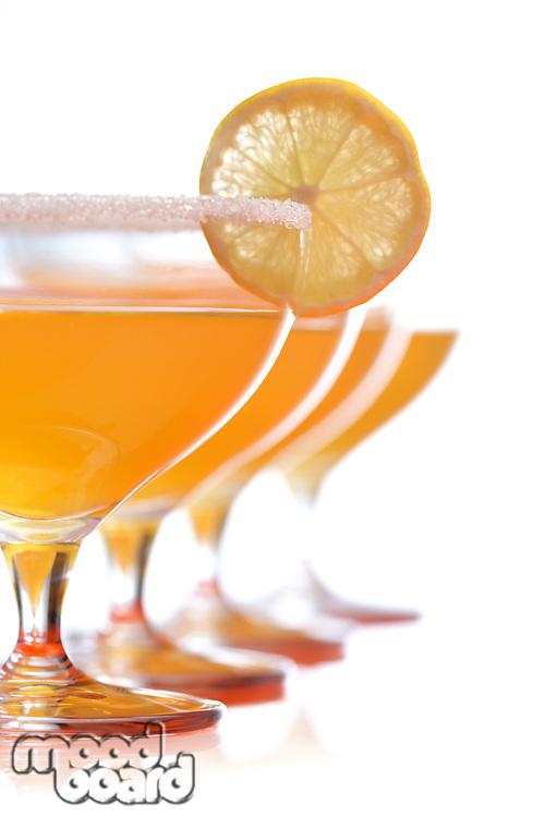 Studio shot of margarita drink