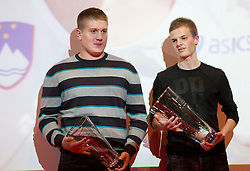 Blaz Zupancic and Jan Petrac during the Slovenia's Athlete of the year award ceremony by Slovenian Athletics Federation AZS, on November 12, 2008 in Hotel Mons, Ljubljana, Slovenia.(Photo By Vid Ponikvar / Sportida.com) , on November 12, 2010.
