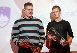 Blaz Zupancic and Jan Petrac during the Slovenia's Athlete of the year award ceremony by Slovenian Athletics Federation AZS, on November 12, 2008 in Hotel Mons, Ljubljana, Slovenia.(Photo By Vid Ponikvar / Sportida.com) , on November 12, 2010.