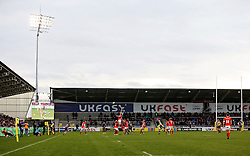 A general view at the AJ Bell Stadium during a Sale Sharks line out - Mandatory by-line: Matt McNulty/JMP - 20/11/2016 - RUGBY - AJ Bell Stadium - Sale, England - Sale Sharks v Saracens - Aviva Premiership