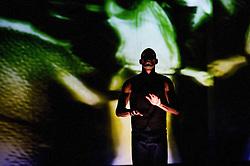 © Licensed to London News Pictures. 11/10/2012. London, UK. Sadler's Wells Theatre present Cedar Lake Contemporary Ballet Company. Picture shows Alexander Ekman's Tuplet.  Dancer Joaquim de Santana. Photo credit: Tony Nandi/LNP