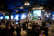 Guests enter the dinning hall for dinner and live music from Mars Hill during Ski Plano, an annual fund-raising event for Plano ISD's education foundation, at Southfork Ranch on Saturday, January 26, 2013 in Parker, Texas. (Cooper Neill/The Dallas Morning News)
