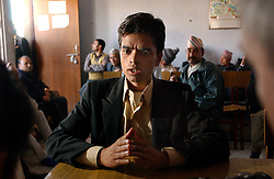 Upendra Aryal, 24, speaks about his experiences with the Maoists in Kathmandu, Nepal March 6, 2005.   The conflict between government troops and the Maoist insurgents has claimed over 11,000 lives since 1996. (Ami Vitale)