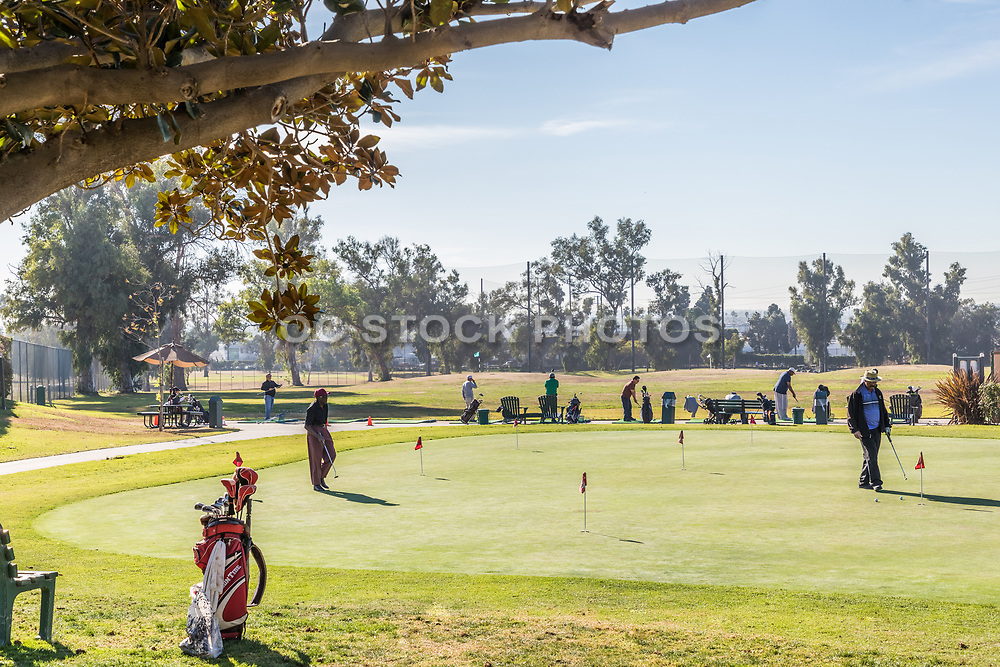 Putting Green and Driving Range at Chester L. Washington Golf Course