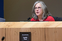 Austin District 7 Council Member Leslie Pool at Austin City Council Meeting
