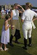 Holly Steele, Sarah  and Kristina Cook. The Land Rover Burghley Horse Trials. 4 September. ONE TIME USE ONLY - DO NOT ARCHIVE  © Copyright Photograph by Dafydd Jones 66 Stockwell Park Rd. London SW9 0DA Tel 020 7733 0108 www.dafjones.com
