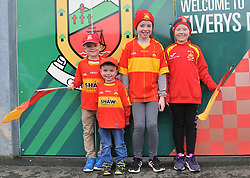 Young Castlebar Mitchels Supporters Sean, Niall, Sinead and Niamh Philbin on their way to the County Final at McHale park.<br />