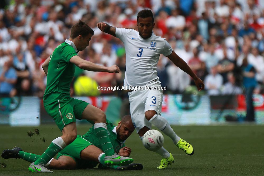 07.06.2015. Dublin, Ireland. International Football Friendly. Republic of Ireland versus England.  Ryan Bertrand of England.