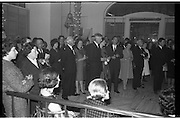 """Innoxa Reception At The Gresham Hotel..1963..02.10.1963..10.02.1963..2nd October 1963..At the Gresham Hotel, O'Connell Street, Dublin, Innoxa launched a new beauty range. The range,""""Living Peach"""", was introduced to members of the trade by Mr Bernard Mc Flynn,General Manager of Innoxa (England) Ltd. ..Picture of the trade representatives who attended the launch of the new Innoxa beauty range."""