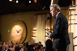 """Jan 8, 2017 - Beverly Hills, California, U.S - HUGH LAURIE accepts the Golden Globe Award for BEST PERFORMANCE BY AN ACTOR IN A SUPPORTING ROLE IN A SERIES, MINI-SERIES OR MOTION PICTURE MADE FOR TELEVISION for his role in """"The Night Manager"""" at the 74th Annual Golden Globe Awards at the Beverly Hilton in Beverly Hills, CA on Sunday, January 8, 2017. (Credit Image: ? HFPA/ZUMAPRESS.com)"""