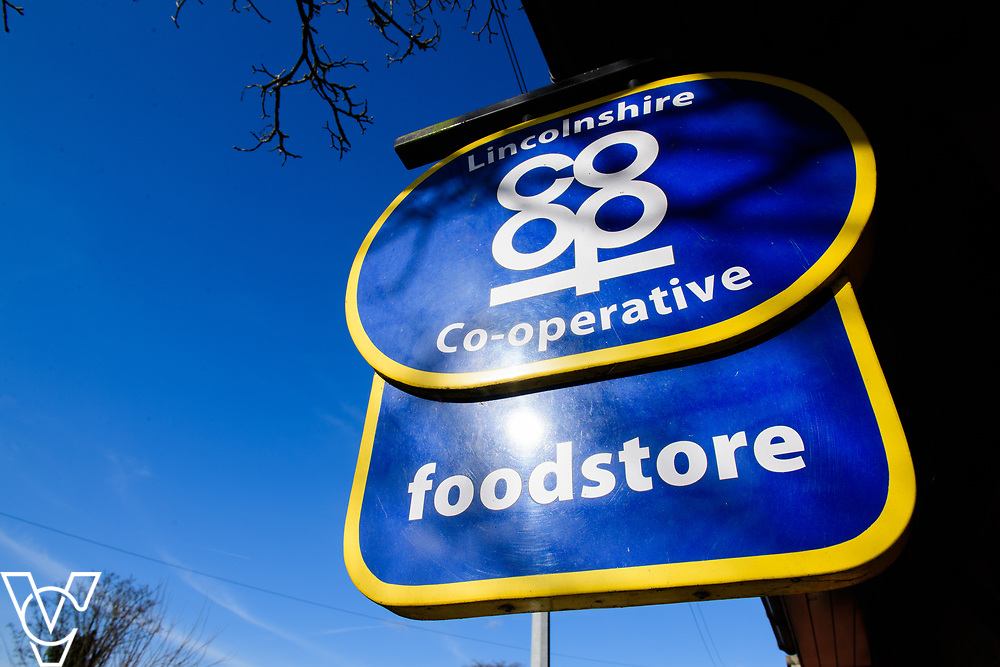 Lincolnshire Co-operative food store sign.<br /> <br /> Picture: Chris Vaughan Photography for Lincolnshire Co-op<br /> Date: March 24, 2017