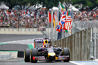 VETTEL Sebastian (Ger) Red Bull Renault Rb10 action   during the 2014 Formula One World Championship, Brazil Grand Prix from November 6th to 9th 2014 in Sao Paulo, Brazil. Photo Frederic Le Floch / DPPI.