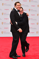David Walliams, and Alan Carr during the Arqiva British Academy Television Awards.  Star-studded ceremony celebrating the best of British television, Royal Festival Hall,  London, UK, May 12, 2013. Photo by: Nils Jorgensen /  i-Images