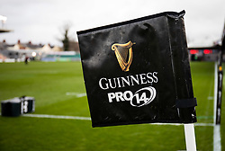 A general view of Rodney Parade, home of Dragons, banner, flag<br /> <br /> Photographer Simon King/Replay Images<br /> <br /> Guinness PRO14 Round 12 - Dragons v Ospreys - Sunday 30th December 2018 - Rodney Parade - Newport<br /> <br /> World Copyright © Replay Images . All rights reserved. info@replayimages.co.uk - http://replayimages.co.uk