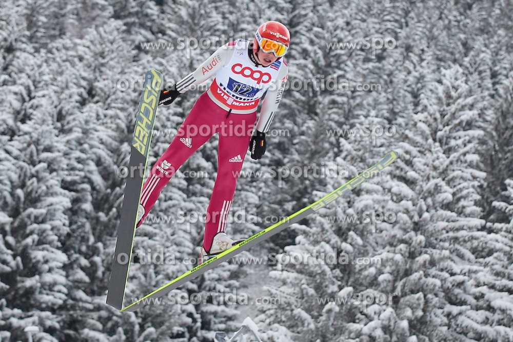 24.02.2013, Skisprungstadion, Predazzo, ITA, FIS Weltmeisterschaften Ski Nordisch, Nordische Kombination, Team, Skisprung HS 106, im Bild Eric Frenzel (GER) // Eric Frenzel of Germany during Mens Nordic Combined HS 106 Team Skijump competition of the FIS Nordic Ski World Championships 2013 at the Skijumping Stadium, Predazzo, Italy on 2013/02/24. EXPA Pictures ©  2013, PhotoCredit: EXPA/ Federico Modica