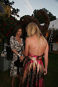 Cleo Shand and Caroline Casey, QUINTESSENTIALLY AND ELEPHANT FAMILY TRUNK SHOW PARTY. SERPENTINE PAVILION, HYDE PARK. 16 SEPTEMBER 2007. -DO NOT ARCHIVE-© Copyright Photograph by Dafydd Jones. 248 Clapham Rd. London SW9 0PZ. Tel 0207 820 0771. www.dafjones.com.