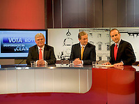 The TG4 debate in Baile na hAbhainn Co. Galway attending were  Party leaders Eamon Gilmore, Enda Kenny FG and Micheal Martin FF   . Photo:Andrew Downes. .