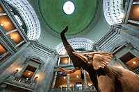 African elephant in atrium of Smithsonian Natural History Museum, in Washington, D.C. Copyright 2016 Reid McNally.