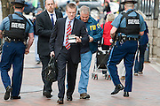 F.B.I. Special Agent in Charge Richard DesLauriers arrives at the Westin at Copley Square, which serves as the command post in the immediate aftermath of the Boston Marathon bombings on April 15, 2013. Three were killed and more than 200 injured by the twin bombings.