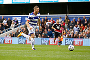 Queens Park Rangers forward Conor Washington (9) finds himself through on goal during the EFL Sky Bet Championship match between Queens Park Rangers and Nottingham Forest at the Loftus Road Stadium, London, England on 29 April 2017. Photo by Andy Walter.