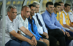 Head coach of Zeta Mladen Vukicevic at 2nd football match of 1st Qualifying Round for UEFA Cup between NK Interblock (Ljubljana) vs FC Zeta (Golubovci), on July 31, 2008, in Arena Petrol, Celje, Slovenia. Domzale won 1: 0 and advanced to second round. (Photo by Vid Ponikvar / Sportal Images)