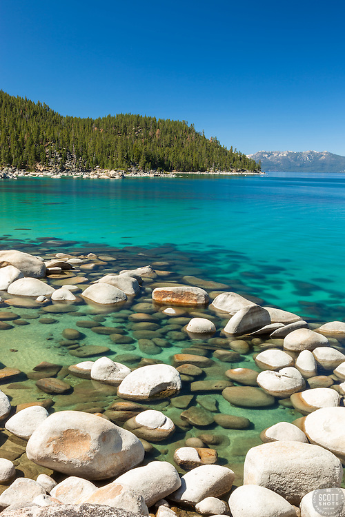 """Boulders at Lake Tahoe 45"" - These boulders were photographed on the East shore of Lake Tahoe."