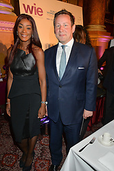 ED VAIZEY and PHOEBE VELA at the LDNY Fashion Show and WIE Award Gala sponsored by Maserati held at The Goldsmith's Hall, Foster Lane, City of London on 27th April 2015.