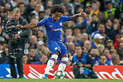 Chelsea midfielder Willian (10) takes a free kick during the Champions League match between Chelsea and Valencia CF at Stamford Bridge, London, England on 17 September 2019.