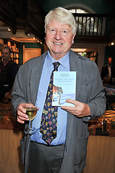 STANLEY JOHNSON at a party to celebrate the publication of Stanley Johnson's new book 'Where The Wild Things Were' held at Daunt Books, 83 Marylebone High Street, <br /> London W1 on 18th July 2012.