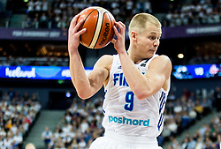 Sasu Salin of Finland during basketball match between National Teams of Finland and Iceland at Day 7 of the FIBA EuroBasket 2017 at Hartwall Arena in Helsinki, Finland on September 6, 2017. Photo by Vid Ponikvar / Sportida