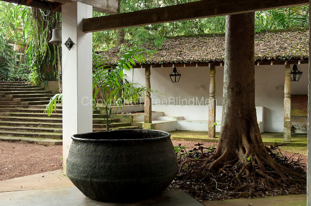 Looking from the carport to the entrance steps.<br />