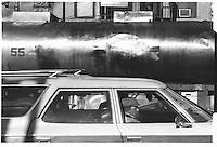 Truck in Canal street, Street photography. 1980