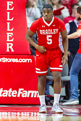 NORMAL, IL - February 16: Darrell Brown during a college basketball game between the ISU Redbirds and the Bradley Braves on February 16 2019 at Redbird Arena in Normal, IL. (Photo by Alan Look)