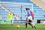Colchester United midfielder Sammie Szmodics (10) gets in a shot during the EFL Sky Bet League 2 match between Colchester United and Morecambe at the JobServe Community Stadium, Colchester, England on 29 December 2018.