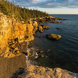 Cobble beach near Raven's Nest on the Schoodic Peninsula in Maine's Acadia National Park.