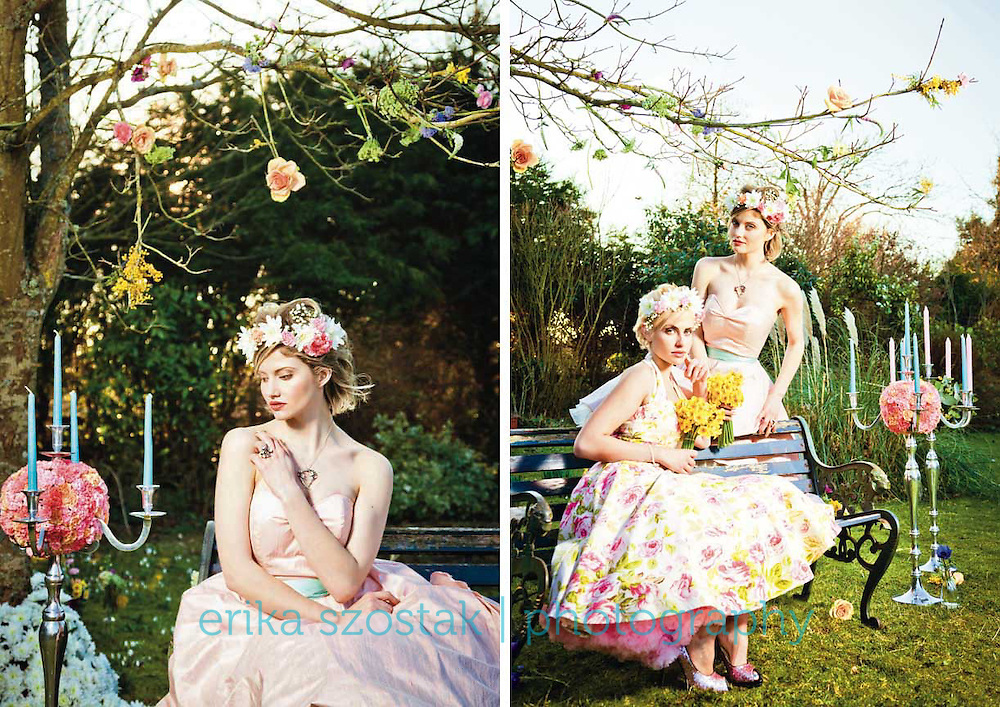 Editorial for Absolute Brighton magazine, April 2013<br /> <br /> Photography: Erika Szostak<br /> Production: Erika Szostak &amp; Louise O&rsquo;Mahony (Oh My Honey)<br /> Styling:  Louise O&rsquo;Mahony &amp; Kate Morton (Absolute Brighton)<br /> Makeup: Cornelia Page<br /> Hair: Susan Bond<br /> Floral Styling: Wookie Floral Design Ltd.<br /> Dresses: Oh My Honey<br /> Shoes: Irregular Choice<br /> Jewellery: Baroque &amp; Jeremy Hoye<br /> Photography Assistant: Mark Liddell<br /> Models: Catie Greener &amp; Dolly Diamond