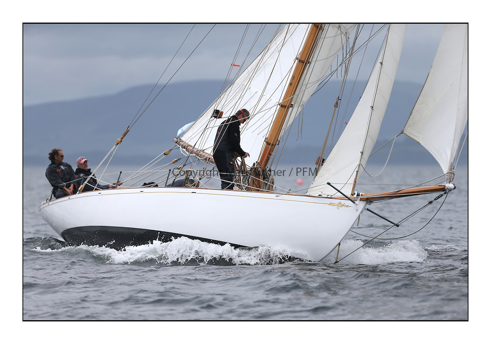 Day one of the Fife Regatta, Round Cumbraes Race.<br /> Viola, Yvon Rautureau, FRA, Gaff Cutter, Wm Fife 3rd, 1908<br /> <br /> * The William Fife designed Yachts return to the birthplace of these historic yachts, the Scotland&rsquo;s pre-eminent yacht designer and builder for the 4th Fife Regatta on the Clyde 28th June&ndash;5th July 2013<br /> <br /> More information is available on the website: www.fiferegatta.com