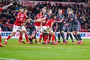 Leeds United defender Gaetano Berardi (28) in action during the EFL Sky Bet Championship match between Middlesbrough and Leeds United at the Riverside Stadium, Middlesbrough, England on 26 February 2020.