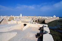 Maroc, Côte Atlantique, El Jadida, Remparts de la vieille ville portuguaise // Old Portuguese fort, El Jadida, Morocco