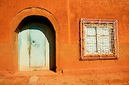 Facede of old moroccan building