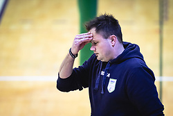 Hribar Aleš, head coach of Panvita Pomgrad reacts during volleyball match between Panvita Pomgrad and Šoštanj Topolšica of 1. DOL Slovenian National Championship 2019/20, on December 14, 2019 in Osnovna šola I, Murska Sobota, Slovenia. Photo by Blaž Weindorfer / Sportida