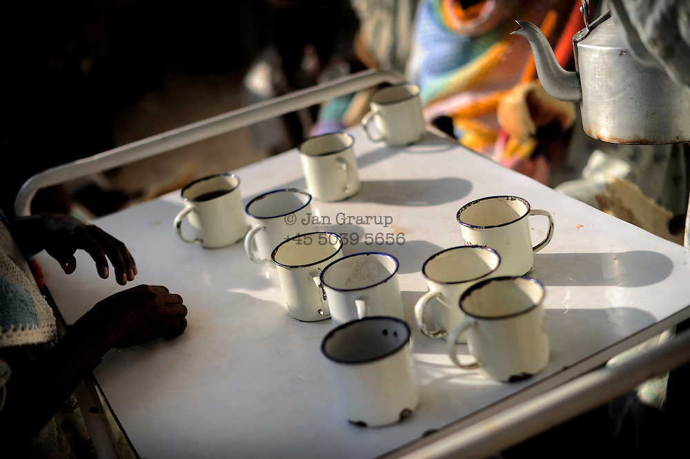 Breakfast tea served at the Outreach Centre Yirgalem of the Hamlin Fistula Hospital. All care and provisions are free for the patients.