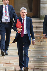 Downing Street, London, November 17th 2015. Foreign Secretary Philip Hammond arrives at Downing Street for the weekly cabinet meeting.