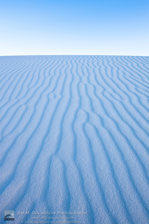 Detailed patterns of gypsum sand extending into infinity - White Sands National Monument, New Mexico
