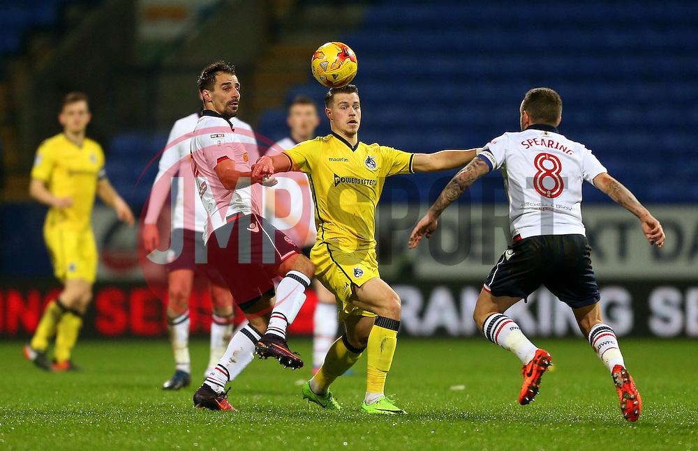 Billy Bodin of Bristol Rovers challenges Jay Spearing of Bolton Wanderers - Mandatory by-line: Matt McNulty/JMP - 28/02/2017 - FOOTBALL - Macron Stadium - Bolton, England - Bolton Wanderers v Bristol Rovers - Sky Bet League One