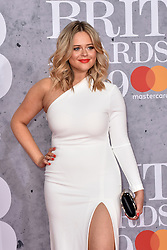 February 20, 2019 - London, United Kingdom of Great Britain and Northern Ireland - Emily Atack arriving at The BRIT Awards 2019 at The O2 Arena on February 20, 2019 in London, England  (Credit Image: © Famous/Ace Pictures via ZUMA Press)