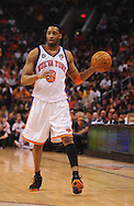 Mar. 26 2010; Phoenix, AZ, USA; New York Knicks guard Tracy McGrady (3) dribbles the ball in the second half at the US Airways Center.  The Suns defeated the Knicks 132-96.  Mandatory Credit: Jennifer Stewart-US PRESSWIRE.