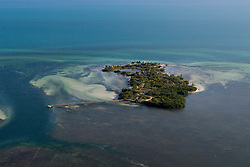 Aerial view of Ballast Key, Florida, United States of America